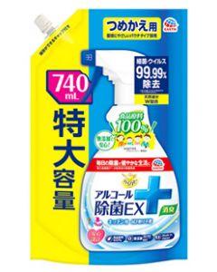 【特売セール】 アース製薬 らくハピ アルコール除菌EX つめかえ用 (740mL) 詰め替え用 キッチン用 アルコール除菌剤