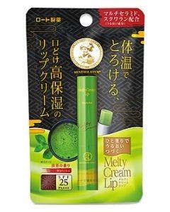 ロート製薬 メンソレータム メルティクリームリップ 抹茶 (2.4g) SPF25 PA+++ リップクリーム