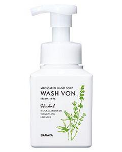サラヤ ウォシュボン ハーバル薬用ハンドソープ ハーブの香り 本体 (310mL) WASH VON 【医薬部外品】