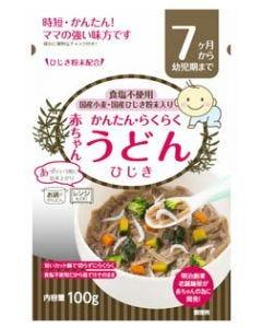 田靡製麺 赤ちゃんうどん ひじき (100g) 7ヵ月頃から幼児期まで ベビーフード ※軽減税率対象商品