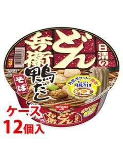 《ケース》 日清食品 日清のどん兵衛 鴨だしそば (105g)×12個 カップめん ※軽減税率対象商品