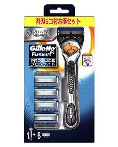 【特売セール】 P&G ジレット プログライド フレックスボール マニュアル ホルダー (本体+替刃6個付) カミソリ 髭剃り 【P&G】