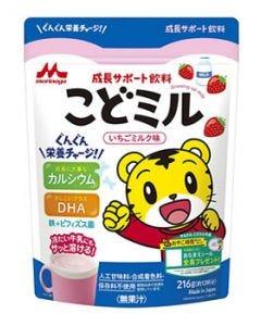 森永乳業 成長サポート飲料 こどミル いちごミルク味 (216g) 1歳半頃から カルシウム DHA ※軽減税率対象商品