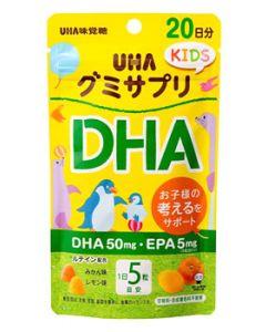 UHA味覚糖 グミサプリキッズ DHA 20日分 (110g) グミ サプリ KIDS ※軽減税率対象商品