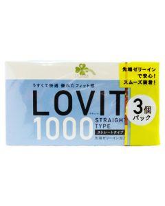 くらしリズム ジェクス ラヴィット1000 ストレートタイプ (12個入×3個パック) LOVIT スキン コンドーム 【管理医療機器】
