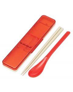 スケーター コンビセット 箸 スプーン セット レトロフレンチ オレンジレッド CCS3SA (1セット) お弁当グッズ