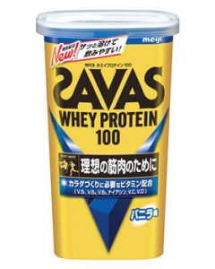 明治 ザバス ホエイプロテイン100 バニラ味 14食分 (294g) プロテインパウダー ※軽減税率対象商品
