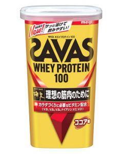 明治 ザバス ホエイプロテイン100 ココア味 14食分 (294g) プロテインパウダー ※軽減税率対象商品