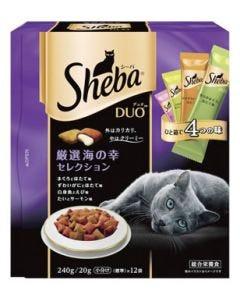 【特売セール】 マースジャパン シーバ デュオ 成猫用 厳選海の幸セレクション (20g×12袋) キャットフードドライ 総合栄養食