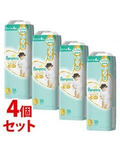 《セット販売》 P&G パンパース 肌へのいちばん パンツ スーパージャンボ L (38枚)×4個セット
