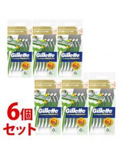 《セット販売》 P&G ジレット カスタムプレミアム ジェルシールド (6本)×6個セット カミソリ 髭剃り 【P&G】