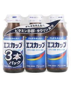 エスエス製薬 エスカップ (100mL×3本) 滋養強壮 栄養補給 【指定医薬部外品】