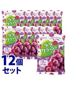 《セット販売》 マンナンライフ ララクラッシュ ぶどう味 (24g×8個)×12個セット ゼリー ※軽減税率対象商品