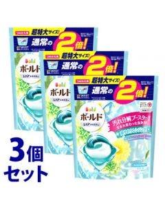 【特売セール】 《セット販売》 P&G ボールド ジェルボール 3D 爽やかプレミアムクリーンの香り つめかえ用 超特大サイズ (32個)×3個セット 詰め替え用 洗濯用洗剤 【P&G】