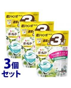 《セット販売》 P&G ボールド ジェルボール 3D グリーンガーデン&ミュゲの香り つめかえ用 超ジャンボサイズ (44個)×3個セット 詰め替え用 洗濯洗剤 【P&G】