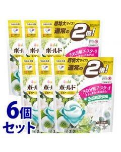 【特売セール】 《セット販売》 P&G ボールド ジェルボール 3D グリーンガーデン&ミュゲの香り つめかえ用 超特大サイズ (30個)×6個セット 詰め替え用 洗濯洗剤 【P&G】