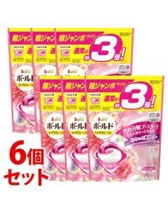 《セット販売》 P&G ボールド ジェルボール 3D 癒しのプレミアムブロッサムの香り つめかえ用 超ジャンボサイズ (46個)×6個セット 詰め替え用 洗濯洗剤 【P&G】