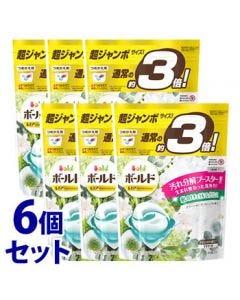 《セット販売》 P&G ボールド ジェルボール 3D グリーンガーデン&ミュゲの香り つめかえ用 超ジャンボサイズ (44個)×6個セット 詰め替え用 洗濯洗剤 【P&G】
