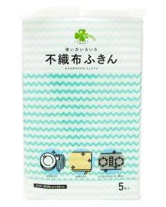 くらしリズム ボンスター 不織布ふきん (5枚) 布巾