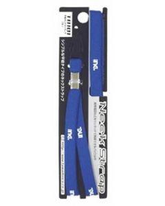 多摩電子工業 平紐ネックストラップ ブルー T8101 (1個) スマホ用ストラップ