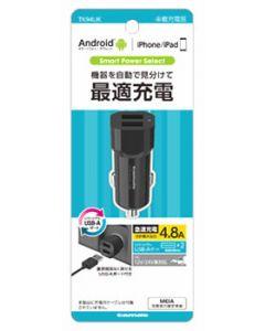 多摩電子工業 USB カーチャージャー 4.8A ブラック TK94UK (1個) カーアクセサリー