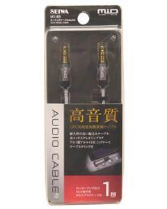 セイワ オーディオケーブル AUX4 メタルブラック M148 (1個) ケータイアクセサリー AUXケーブル