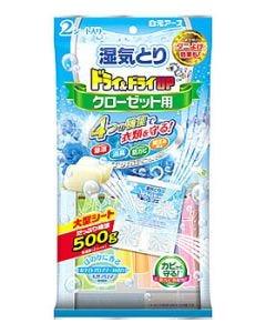 白元アース ドライ&ドライUP クローゼット用 ホワイトアロマソープの香り (2シート) 衣類用湿気とり 防虫剤