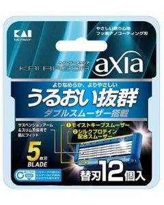 貝印 カイレザー アクシア 替刃 (12個) カミソリ 髭剃り 5枚刃 KAIRAZOR axia