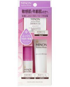 第一三共ヘルスケア ミノン アミノモイスト 敏感肌・エイジングケアライン トライアルセット (1セット) 化粧水 乳液 美容液オイル