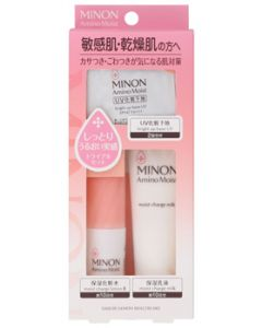 第一三共ヘルスケア ミノン アミノモイスト 敏感肌・乾燥肌ライン トライアルセット (1セット) 化粧水 乳液 化粧下地