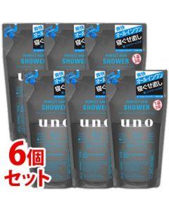 《セット販売》 資生堂 ウーノ パーフェクトヘアシャワー つめかえ用 (220mL)×6個セット 詰め替え用 メンズ 男性用 ヘアウォーター uno