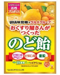 ※ツルハグループ限定※ UHA味覚糖 おくすり屋さんがつくったのど飴 ビタミンフルーツ味 (84g) のどあめ キャンディ ※軽減税率対象商品