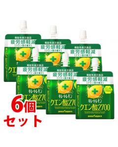 《セット販売》 ポッカサッポロ キレートレモン クエン酸2700ゼリー パウチ (165g)×6個セット ゼリー飲料 機能性表示食品 ※軽減税率対象商品