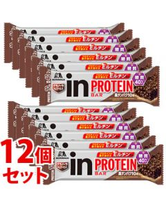 《セット販売》 森永製菓 inバー プロテイン グラノーラ チョコアーモンド (1本)×12個セット 栄養調整食品 バー ※軽減税率対象商品