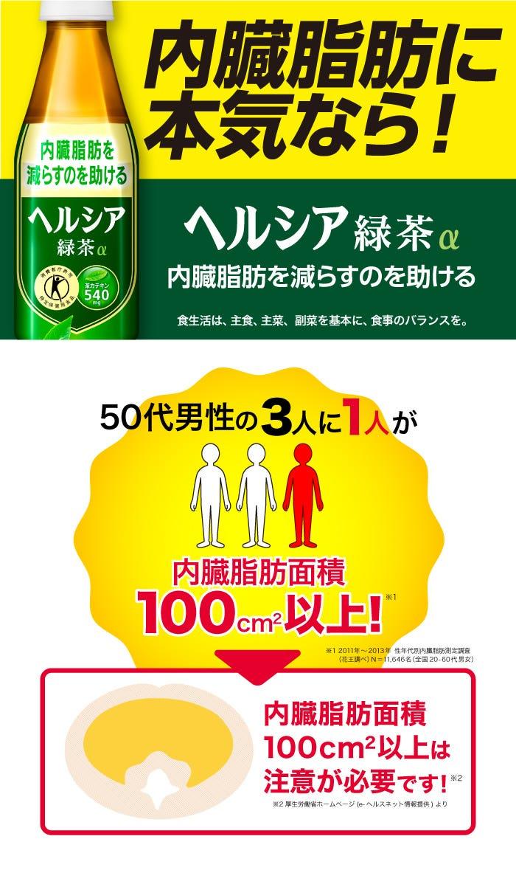 内臓脂肪に本気なら! ヘルシア緑茶α 内臓脂肪を減らすのを助ける